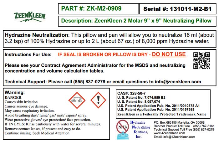 Product Label: ZK-2M-0909